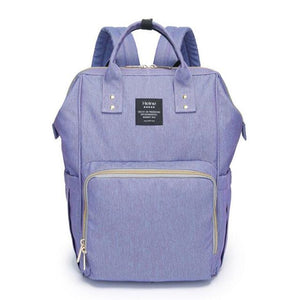 Grey Heine Diaper Backpack is a classic design and comes in vibrant colours perfect for any occasion. It's made with waterproof canvas material and has adequate storage compartments for bottles, diapers, snacks, toys and valuables yet is compact enough to wear with ease.