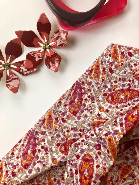 Japanese print infinity scarf