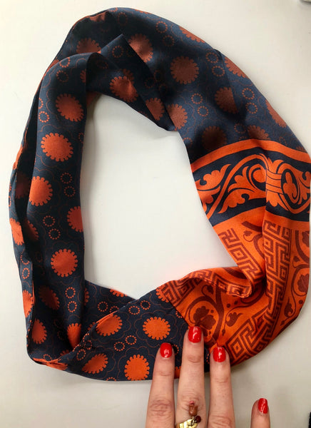 Romance was Re-Born silk infinity scarf