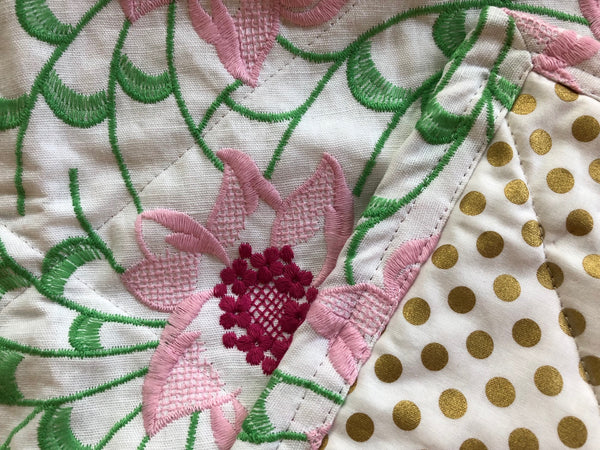 garden glory mini quilt or throw