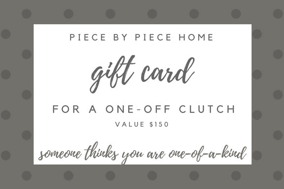 one-of-a-kind clutch gift card