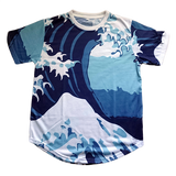 Waves T-shirt Blue
