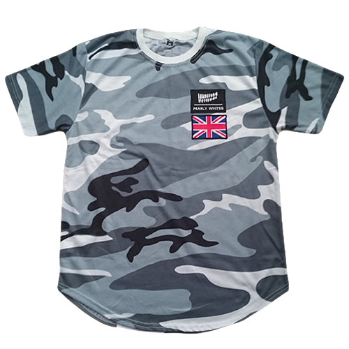 Pearly Whites Camo Patches T Shirt