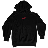 Pearly Whites slashed logo hoodie embroidered oversized baggy hoodie