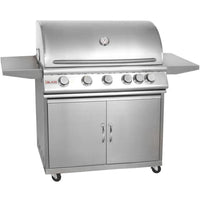 Blaze 40 Inch 5-Burner Grill With Rear Burner On Cart