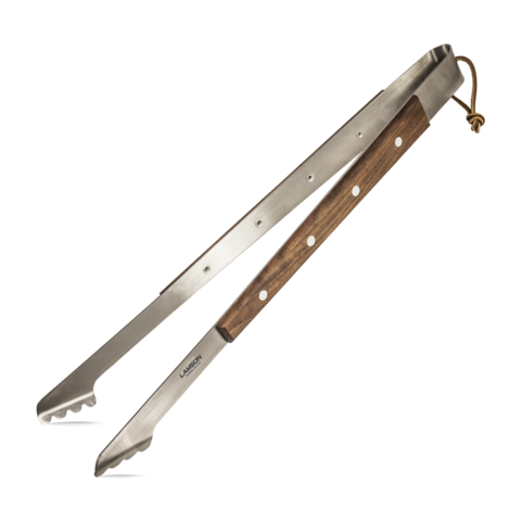 Lamson Premier Walnut Barbeque Tongs 17""