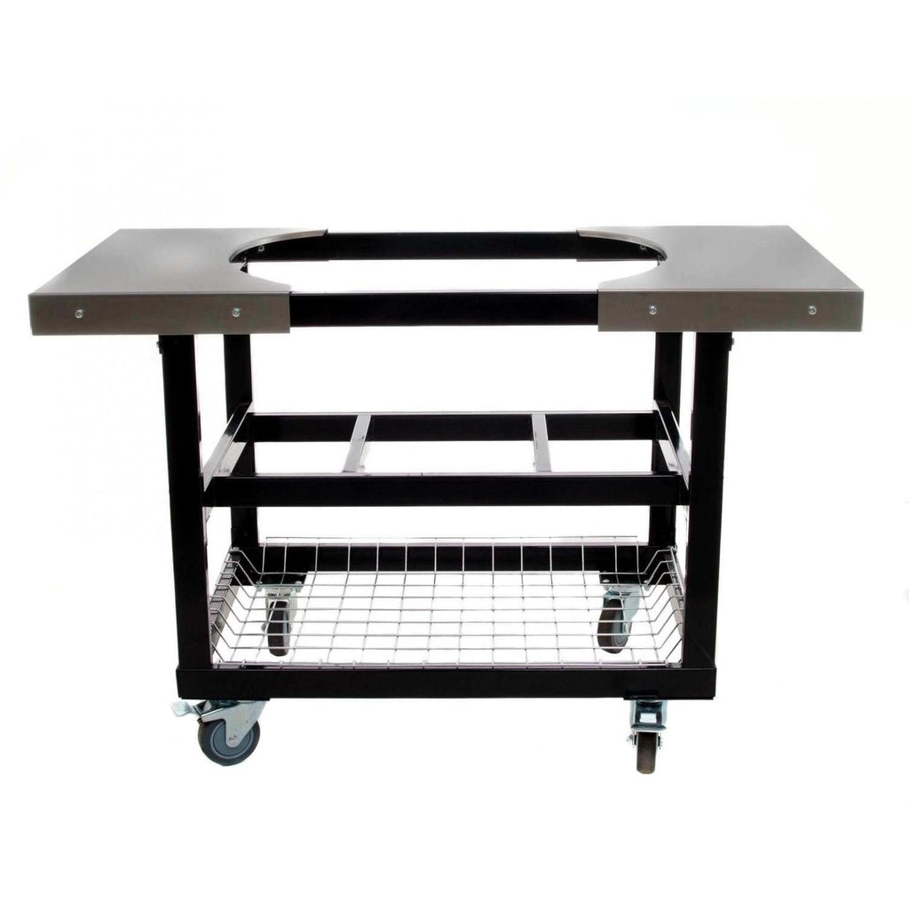 Primo Steel Cart with Basket and Stainless Steel Shelves for Oval XL/LG