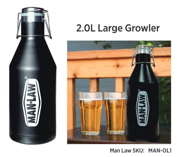 Man Law 2.0L Large Growler