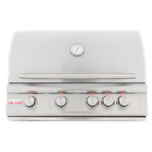 Blaze 32 Inch 4-Burner Grill With Rear Burner with Lighting System