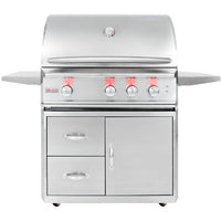 Blaze Professional 34-Inch Gas Grill With Rear Infrared Burner On Cart