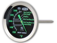 MEAT GAUGE WITH GLOW IN THE DARK DIAL - Southern Grillin'