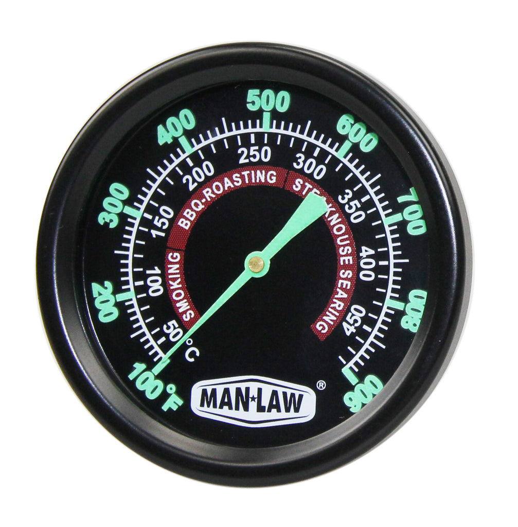 GRILL/SMOKER GAUGE WITH GLOW IN THE DARK DIAL - Southern Grillin'