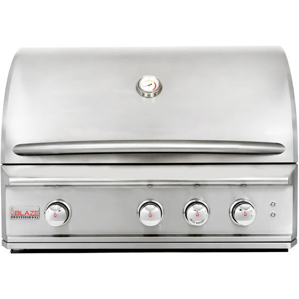 Blaze Professional 34-Inch 3 Burner Built-In Gas Grill With Rear Infrared Burner