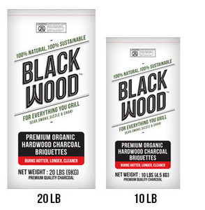 Black Wood Hardwood Charcoal Briquettes