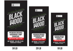 Black Wood Natural Hardwood Lump Charcoal
