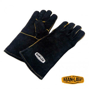 "14"" Leather BBQ gloves - Southern Grillin'"