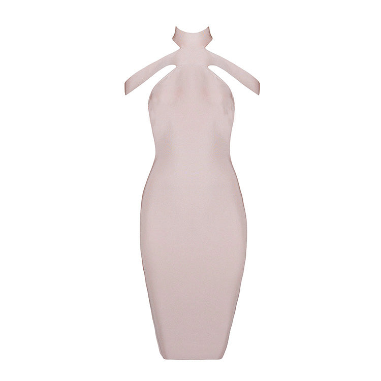 Khloe Bandage Dress: Apricot Pink