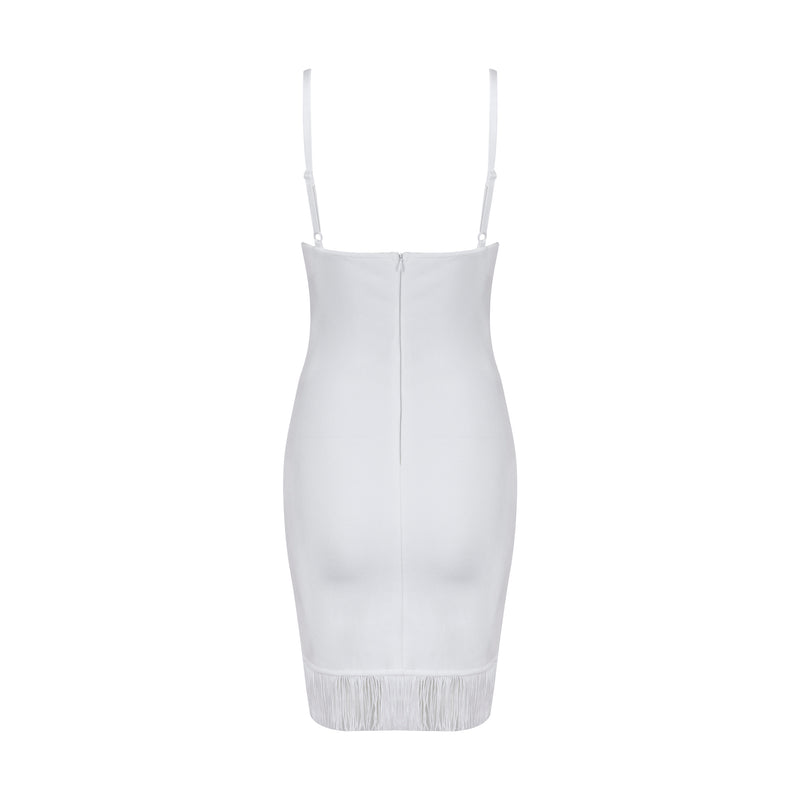 Kyla Bandage Dress: White