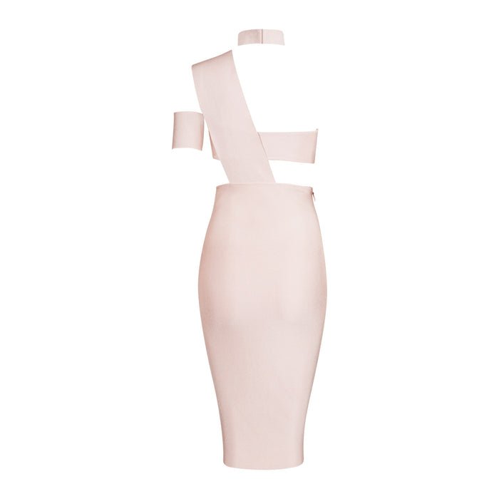 Stacey Bandage Dress: Apricot Pink