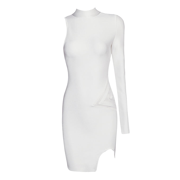 Selena Bandage Dress: White