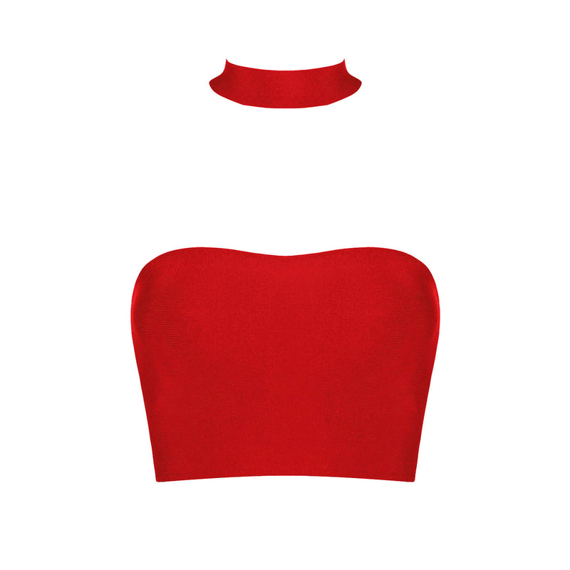 Anna Bandage Top: Red