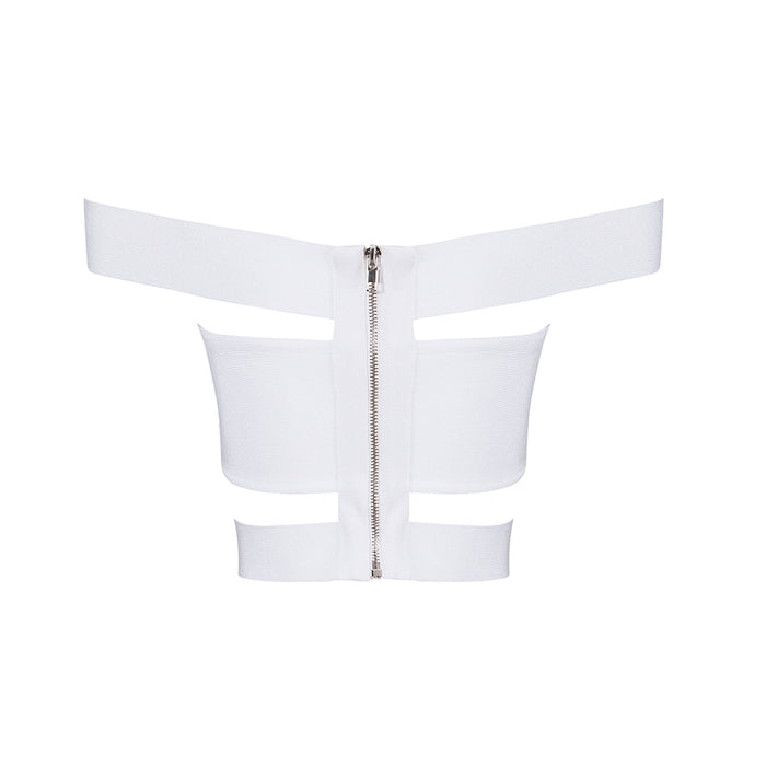 Adriana Bandage Top: White