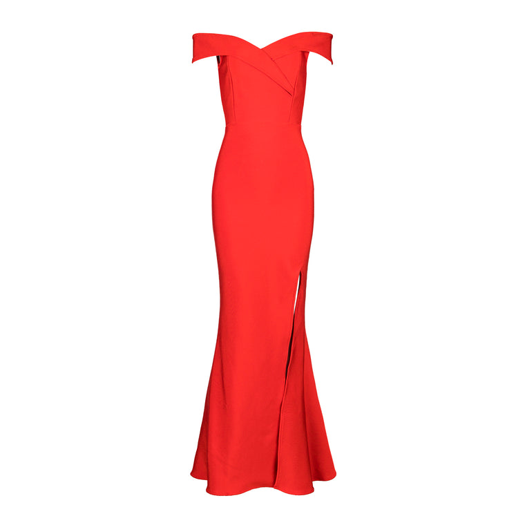 Anikka Bandage Gown: Red