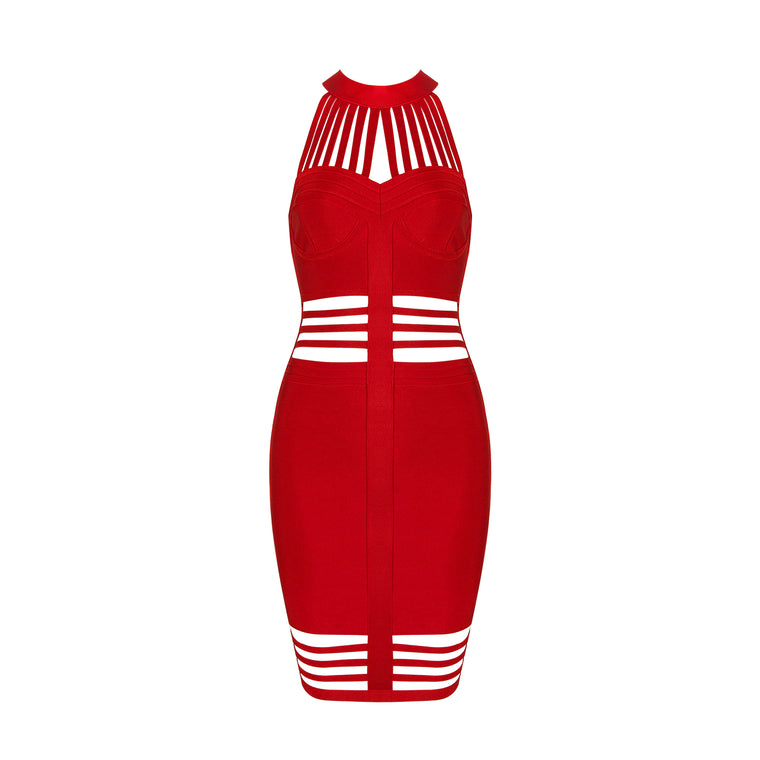 Zainab Bandage Dress: Red