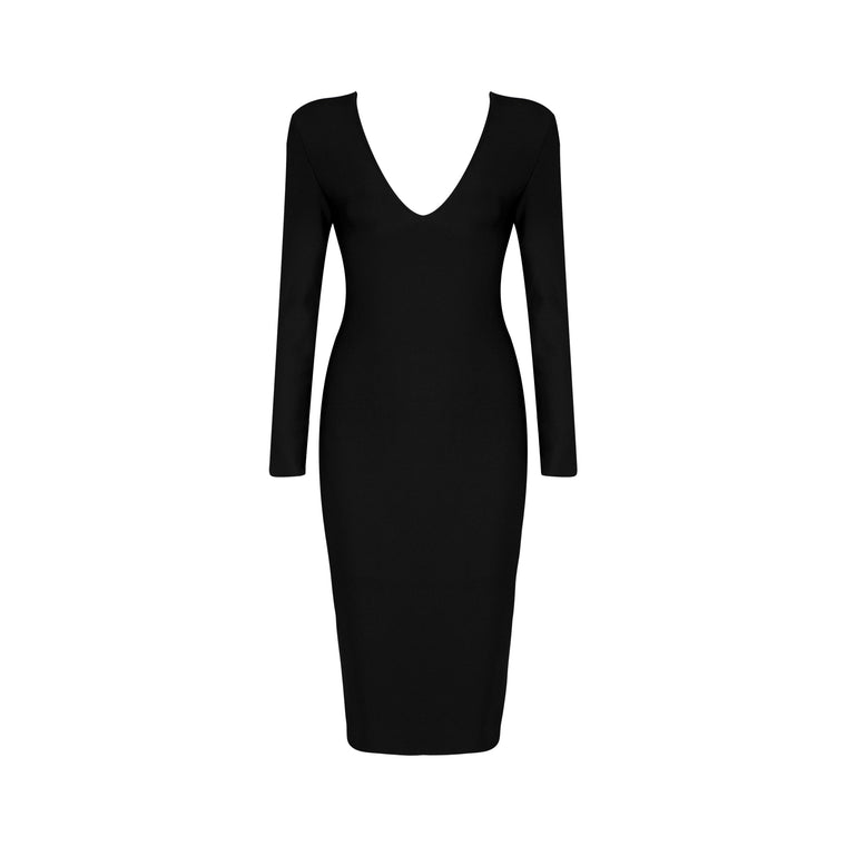 Valentina Bandage Dress: Black