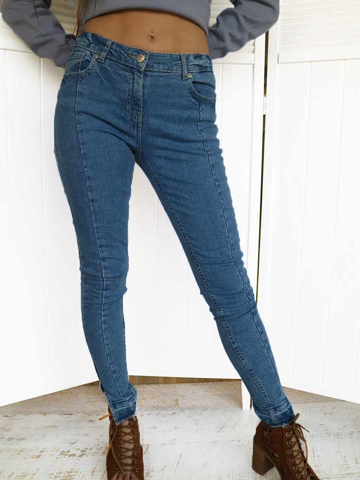 Front Panel Skinny Jeans