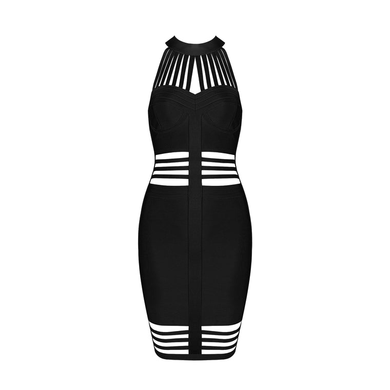 Zainab Bandage Dress: Black
