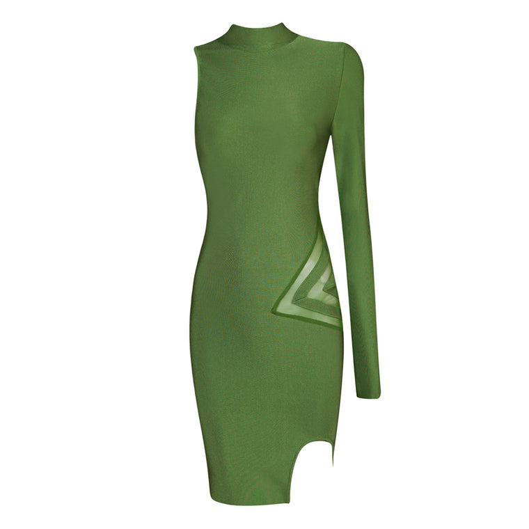 Selena Bandage Dress: Green