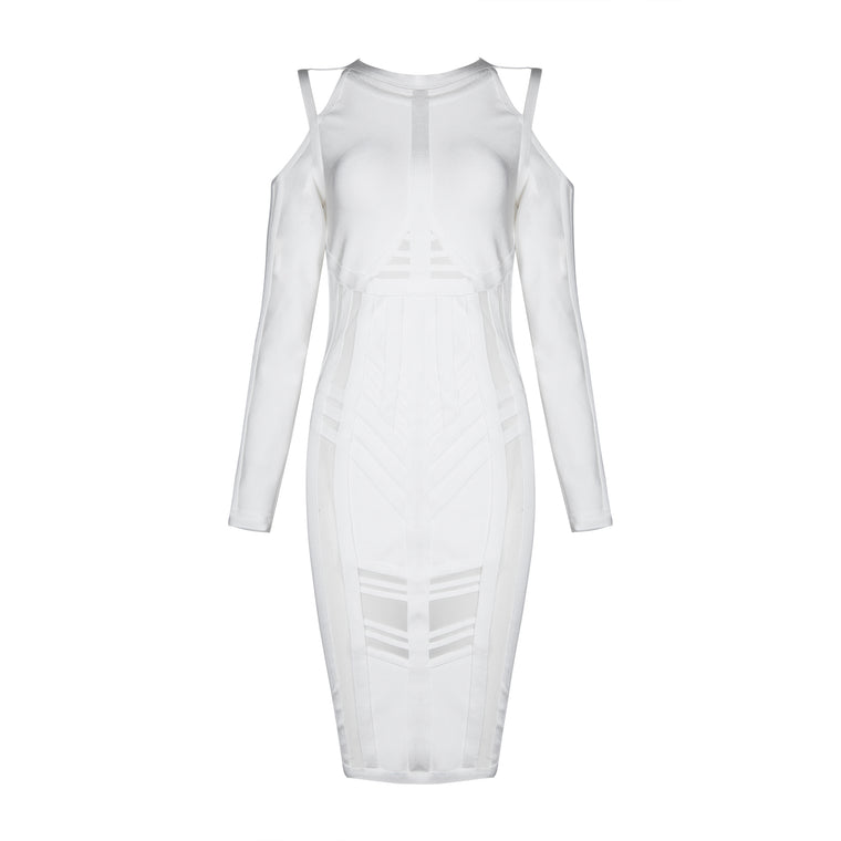 Jade Bandage Dress: White