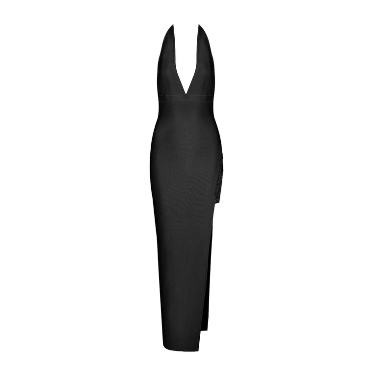 Lily Bandage Dress: Black