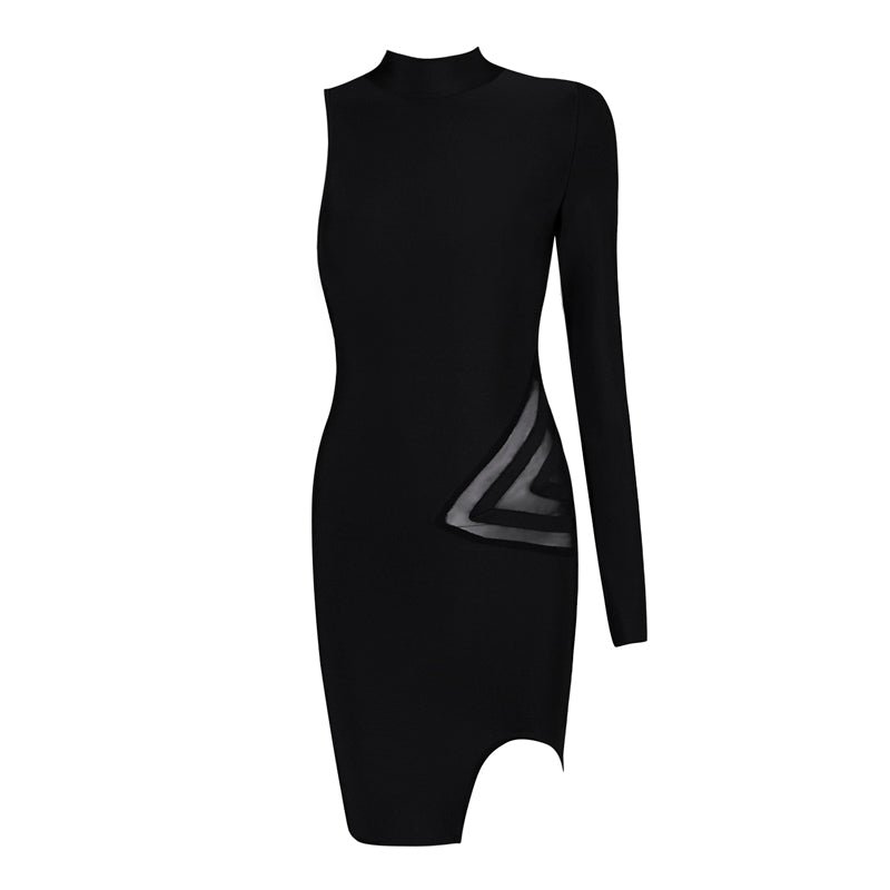 Selena Bandage Dress: Black