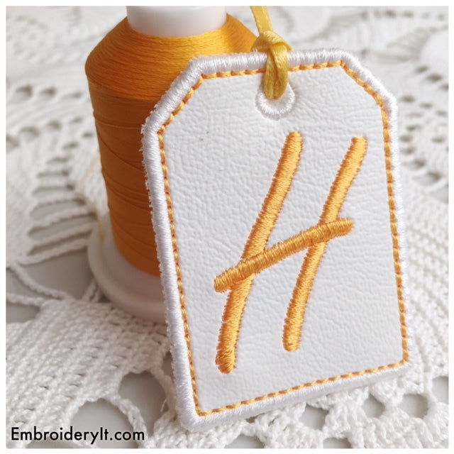 in the hoop machine embroidery tag font
