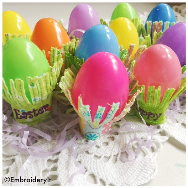 Easter Egg holder embroidery design