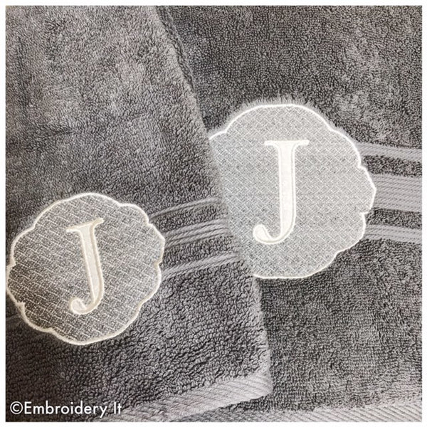 Machine Embroidery Applique Monogram Towel Design