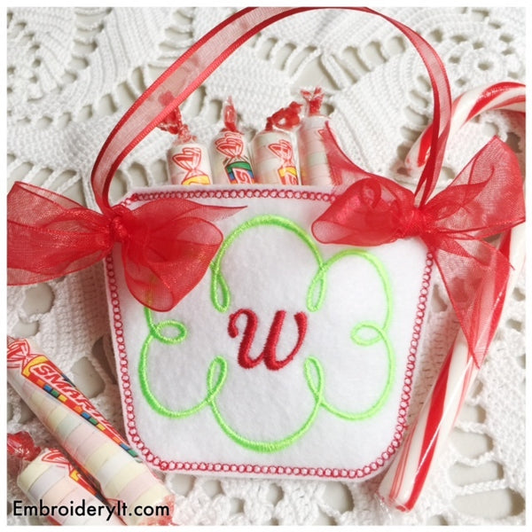 monogram basket machine embroidery pattern
