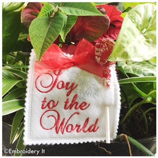 Christmas lollipop holders in the hoop machine embroidery designs