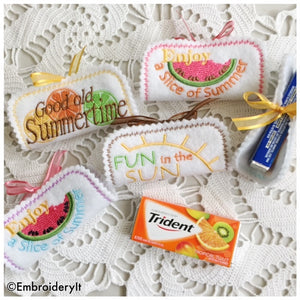 In the hoop machine embroidery candy wrapper pattern