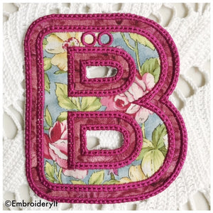 Machine Embroidery banner Letter