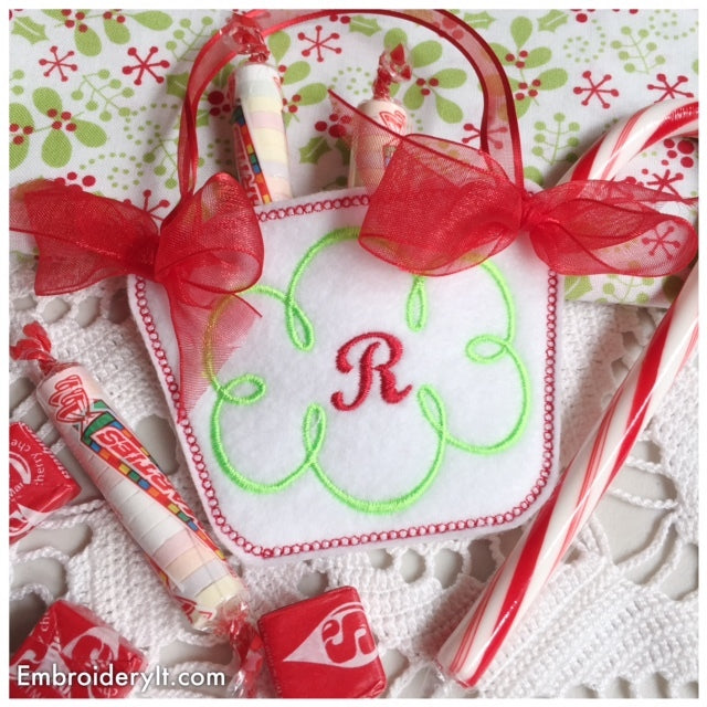monogram basket machine embroidery letter r design