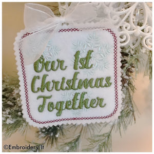 Our first Christmas together machine embroidery design