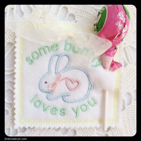 In the hoop machine embroidery Easter Lollipop holders