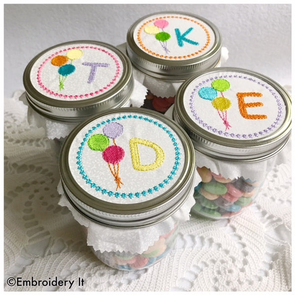 machine embroidery alphabet font for ball canning jars