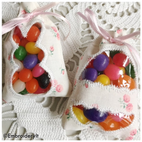 Easter Candy holder treat bags embroidery machine designs