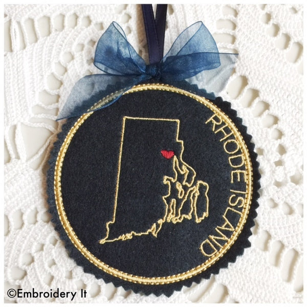 machine embroidery Rhode Island in the hoop pattern
