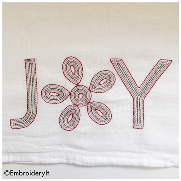 Alphabet set for embroidery machine