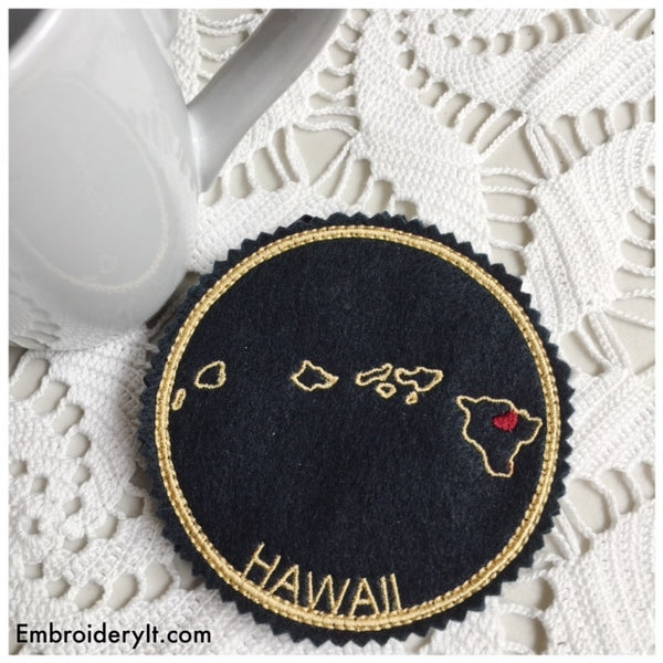 Machine embroidery Hawaii ornament